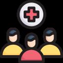 crowd patient, disease, epidemic, hospital, infection, transmission, virus icon