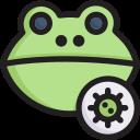 corona, disease, epidemic, frog virus, infection, transmission, virus icon