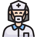 assistant, disease, epidemic, infection, nurse, transmission, virus icon