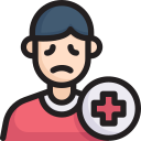 disease, epidemic, infection, patient, sufferer, transmission, virus icon