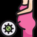 disease, epidemic, infection, mother, pregnancy virus, transmission, virus icon