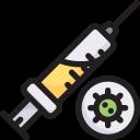 disease, epidemic, infection, injection, syringe virus, transmission, virus icon