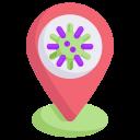 disease, epidemic, infection, location, place pin virus, transmission, virus