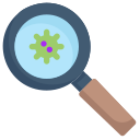 disease, epidemic, infection, magnifier, search virus, transmission, virus icon