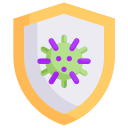 disease, epidemic, infection, protection, shield of virus, transmission, virus icon