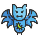 animal, bacteria, bat, biology, contagion, infection, virus icon