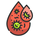 blood, cell, disease, infect, lab, medical, virus icon