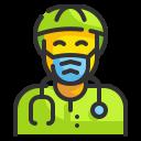bacteria, doctor, medico, physician, sawbones, scientist, virus icon