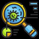 bacteria, diagnose, lab, researcher, scientist, search, virus icon