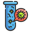 bacteria, chemical, lab, science, test, tube, virus icon