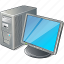 computer, desktop, monitor, pc icon