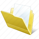 document, file, folder icon