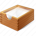 box, documents, office, paper icon