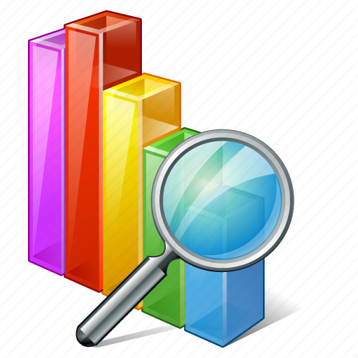analytics, bar, chart, graph, search, statistics icon