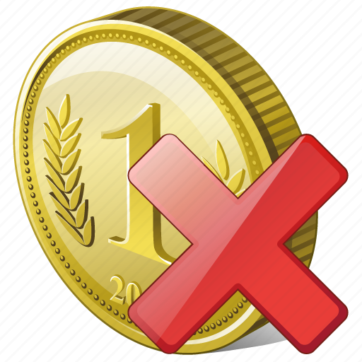 coin, delete, money, payment, remove icon