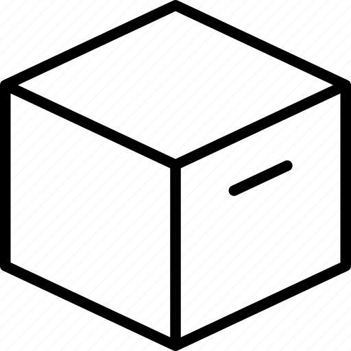 box, cardboard, cube, package, storage icon