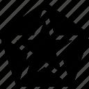 area, badge, military, polygon, sign, star icon
