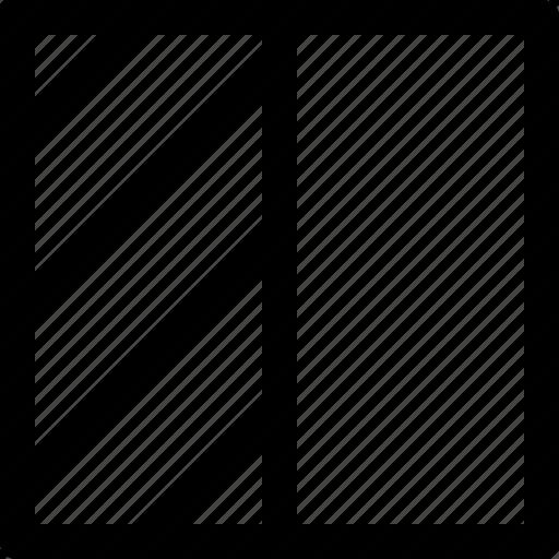 geometric, half, highlight, shape, square icon