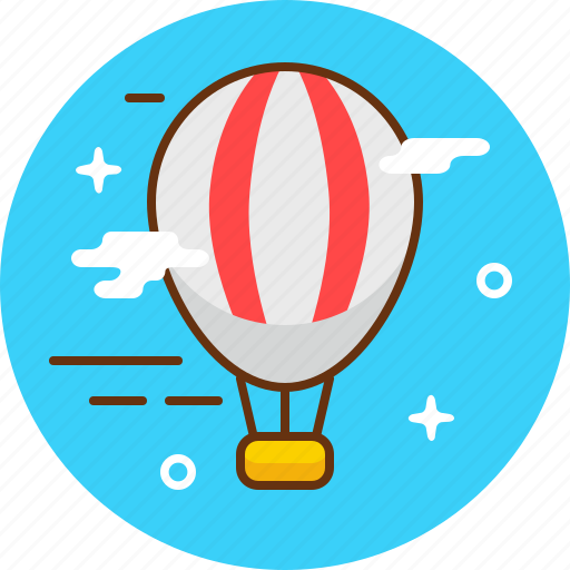 air balloon, balloon, fly, hot air ballon, travel, vehicle icon