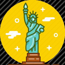 america, new york, ny, statue, statue of liberty, usa icon