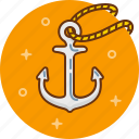 anchor, boat, sail, sailing, sea, ship icon