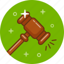 auction, court, gavel, mallet, vote icon