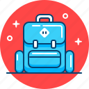 backpack, hiking, rucksack, suitcase, tourism, travel icon