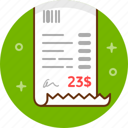 bill, calculation, pay, payment, shop, sum, tip icon