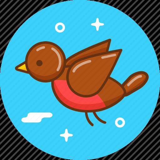 animal, bird, fly, sparrow, tweet icon