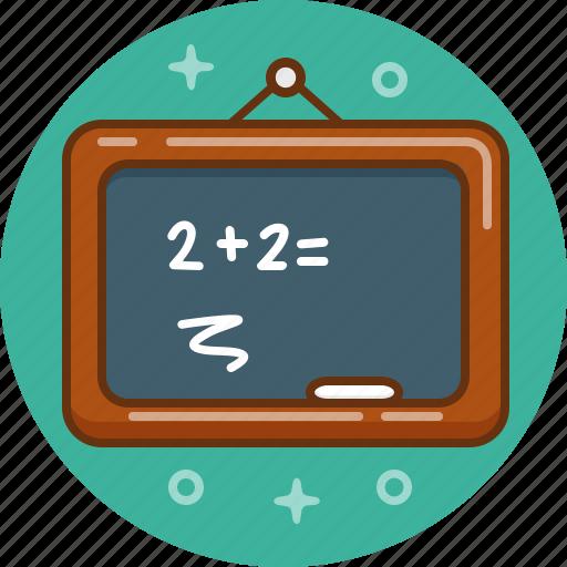 blackboard, board, calculate, calculation, chalkboard, mathematics, maths icon