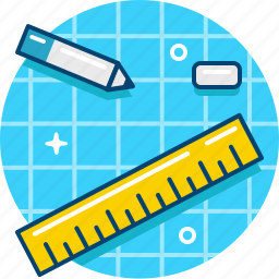 blueprint, drafting, draw, drawing, graphics, pencil, ruler icon