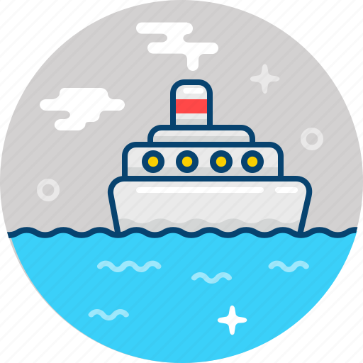 boat, ocean, sail, see, ship, transport, vehicle icon