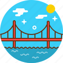 bridge, crossing, golden gate, san francisco icon