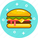 burger, cheeseburger, fast food, food, hamburger, junk, mcdonald's icon