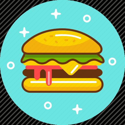 burger, cheeseburger, fast food, food, hamburger, junk, mcdonald's icon