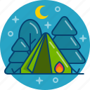 camp, camping, forest, hiking, tourism, travel icon