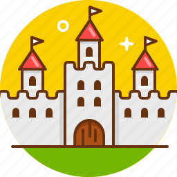 castle, king, kingdom, knight, medieval, palace icon