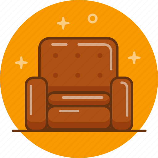 Armchair, chair, furniture, relax, soft icon - Download on Iconfinder