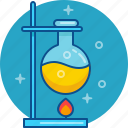 chemistry, experiment, lab, laboratory, scince, study icon