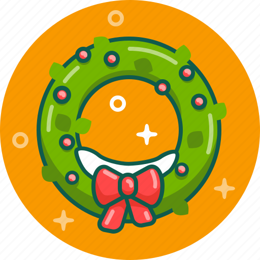 celebration, christmas, decoration, holy, new year, wreath, xmas icon