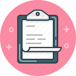 business, clipboard, document, report icon
