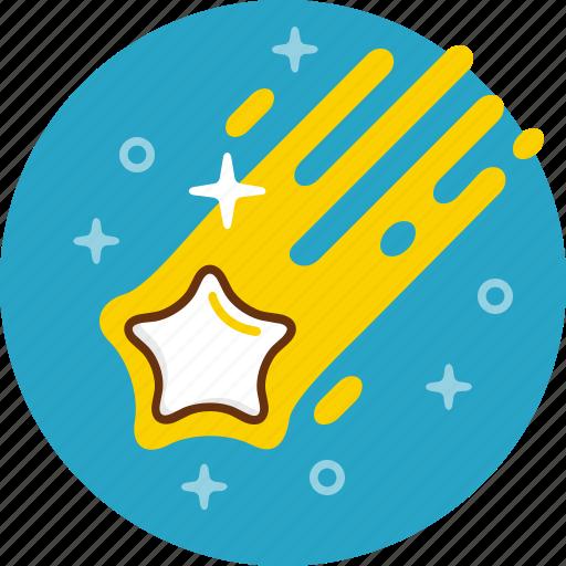 comete, cosmos, meteor, space, star icon