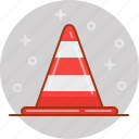 alert, cone, road, stop, traffic icon