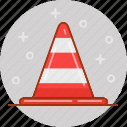alert, cone, road, stop, traffic icon