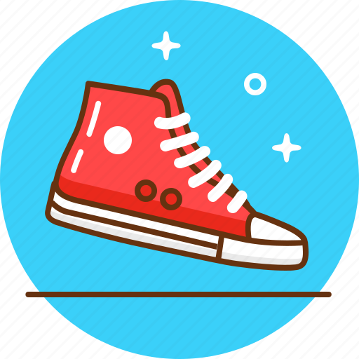 converse, foot wear, snickers, sport, teenager, trainers icon