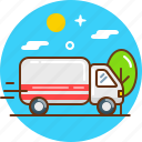 car, delivery, lorry, shipping, transport icon