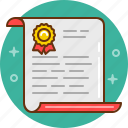 award, certificate, diploma, document, grant, letter, prize icon