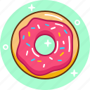 dessert, donut, fast food, food, sweet icon