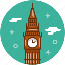 big ben, clock, england, london, tower icon