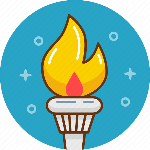 burn, fire, flame, olympic games, olympics, torch icon